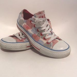 Converse Shoes - Converse low sz 6.5 W blue white red
